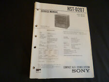 Original Service Manual Sony HST-D207