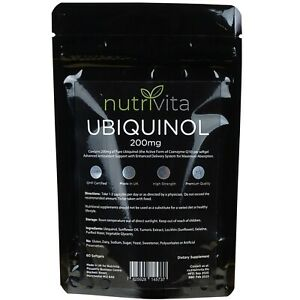 Ubiquinol 200mg High Strength Softgels - Highly Bioavailable Antioxidant Support