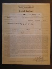 Movie Letterhead Supreme System 1919 Contract Single or 2 Reel Christie Comedies