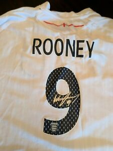 WAYNE ROONEY SIGNED  JERSEY w/COA UNITED KINGDOM