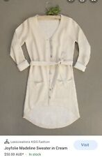 Joyfolie Madeline Sweater In Cream Cardigan Duster Sz 7 NWOT