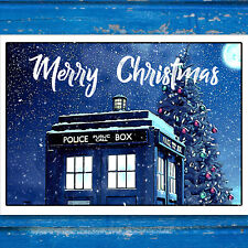 Tardis Christmas Card | Doctor Who Christmas Card | Dr Who Xmas Card
