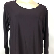 Sympli The Best Womens Sz 8 Tunic Top Plum Purple Long Sleeve Canada Split Side