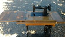 Vintage Pedal Shuttle Bobbin Oak Cabinet Sewing Machine