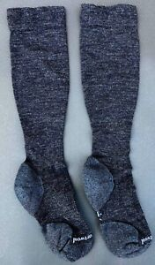SMARTWOOL Women's COMPRESSION Light Elite OTC SOCKS M Black Charcoal USA NEW