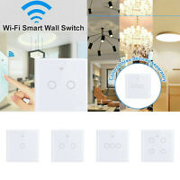 Smart Touch Lichtschalter Wlan 1/2/3/4 Fach WIFI Wand LED Schalter For Alexa