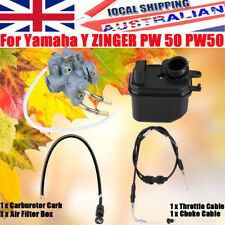Carburetor +Air Filter Box +Choke +Throttle Cable Kit For Yamaha PW 50 YZinger