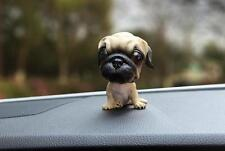 Pug Dog Figurine Bobbing Bobble Head Doll Toy Car Home Ornaments Decor US STOCK