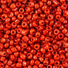 All' ingrosso 1kg rosso opaco foro rotondo vetro SEMI PERLINE dimensione 11/0 2mm