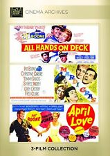 Pat Boone : April Love/ Mardi Gras / All Hands On Deck - Region Free DVD -Sealed