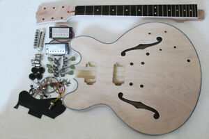 Project Electric Jazz Guitar Builder Kit Diy With All Accessories