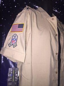 New Nike Salute To Service Buffalo Bill Button Up Shirt AT6763-297 Sz M MSRP $90