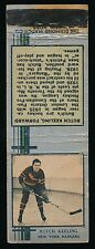 1933-34 Diamond Matchbooks Hockey (Silver) BUTCH KEELING(New York Rangers)