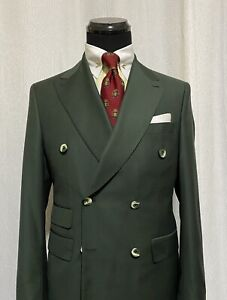Hunter Green Made To Order Suit 40R