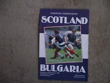 1986   Scotland v Bulgaria  -  European Championship
