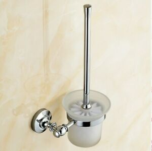 Polished Chrome Toilet Brush Holder For Bathroom Accessories Set Bath Products