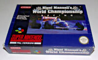 Nigel Mansell's World Championship Super Nintendo SNES Boxed PAL *Complete* #3