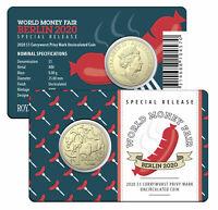 2020 $1 'Currywurst' Privy Mark Coin - Berlin World Money Fair - Special Releas