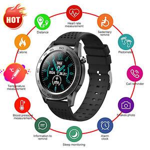 2021 Körpertemperatur Smart Watch Herzfrequenz Blutdruck Fitness Monitor DE