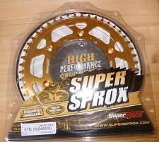 KTM LC4 EXC SX Kettenrad Supersprox 48 Z Teilung 520 gold Husaberg Husqarna