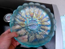 Northwood Ice Blue Peacock And Urn Master Ice Cream Bowl - Loads Of Color