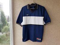 Nike Blue Football Shirt 1995 Jersey Size M Soccer Vintage Camiseta