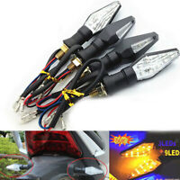 4x Motorcycle LED Turn Signal Light Sequential Flowing Indicator Yellow & Blue