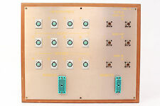Custom Headphone/Video Patch Bay Panel 12x 4-Pin XLRF / 2x ELCO / 6x SO-239 #8