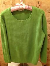 'Talbots' Long Sleeve Cotton Blend Cable Knit Sweater Top - Size X - VGUC