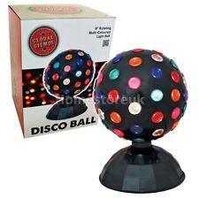 """8 """"rotación Multi Color Disco Ball Luz Cambiante Dance Party Etapa Planta 45970"""