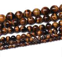 Natural Tiger's Eye Gemstone Round Loose Spacer Beads 4mm 6mm 8mm 10mm 12mm