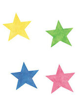 Stars Yellow Pink Blue Green 25 Walls Wallies Decals Sticker Borders Decorating