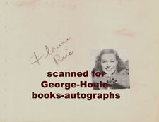 FLORENCE RICE~AUTOGRAPH~1939~AT THE CIRCUS