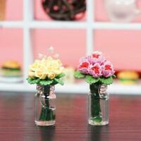 Dollhouse Miniature Decals 1:12 Himmel Sterne Rosen Neu Blumen W0I6