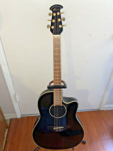 Ovation Celebrity Acoustic-Electric Guitar Black Model CC 24 w/ onboard Tuner