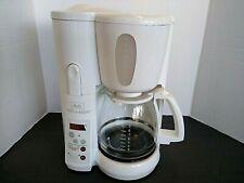 Melitta MEMB1 Mill & Brew 10 Cup Programmable Coffee Maker - WHITE