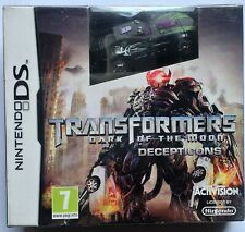 TRANSFORMERS DARK OF THE MOON DECEPTICONS NINTENDO DS GAME + TOY CAR new sealed