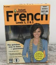 Learn How To Speak French With Instant Immersion Levels 1-3 Audio Cd's
