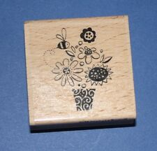 NEW Stampendous 'Ooo-La-La Bouquet' D135 Wooden Backed Rubber Stamp - SALE