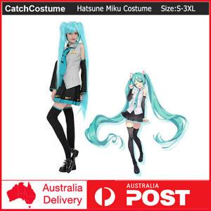 Anime Hatsune Miku Vocaloid Hatsune Miku Cosplay Costume Uniform Dress Party