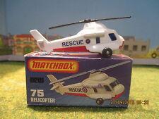 Véhicule voiture camion Hélicopter Matchbox Réf 75 neuf boite Dinky