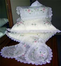 Lace Embroidered Doilies Tissue Cushion set 6 Piece white
