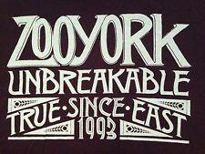 VINTAGE ZOO YORK UNBREAKABLE TRUE EAST SINCE 1993 T SHIRT MEDIUM