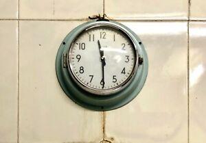Ancient Vintage Citizen Wall Clock Light Blue Analog Premium - Office Lot 5