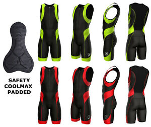 Mens Triathlon Suit Tri Suit Padded Swimming Cycling Running Yoga Skin Suit S-2x