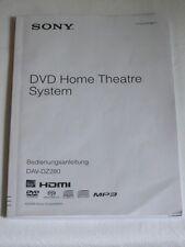 Sony DAV-DZ280 Bedienungsanleitung