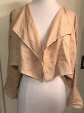 PLANET LAUREN GROSSMAN 100% linen cropped lagenlook shrug jacket OSFA