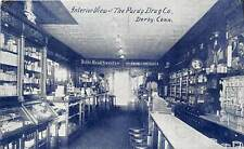 DERBY, CT ~ RARE PC OF INTERIOR VIEW OF THE PURDY DRUG CO. ~ u.1909