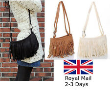 Ladies Women's Fringe Messenger Shoulder Tassel Bag Tote Handbag Crossbody Bag