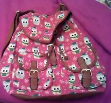 Cute Christmas backpack Red with Owl pattern BNWOT